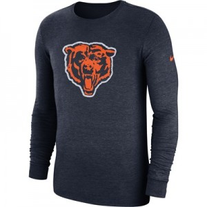 Chicago Bears Nike Tri Historic Crackle Long Sleeve T-Shirt - Mens