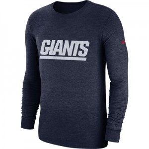 New York Giants Nike Tri Historic Crackle Long Sleeve T-Shirt - Mens