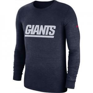 New York Giants Nike Tri Historic Crackle Long Sleeve T-Shirt - Mens