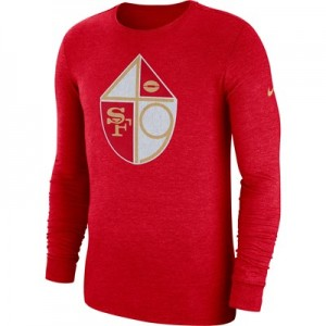 San Francisco 49ers Nike Tri Historic Crackle Long Sleeve T-Shirt - Mens