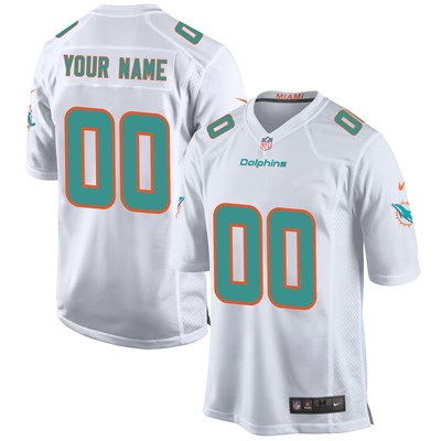 Miami Dolphins Road Game Jersey - Custom - Mens