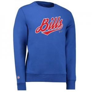 Buffalo Bills Football Team Script Fashion Crew Sweatshirt - Royal - Mens