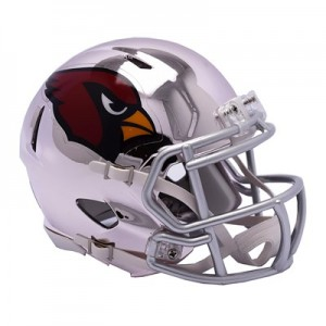 Arizona Cardinals Chrome Alternate Speed Mini Helmet