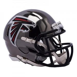 Atlanta Falcons Chrome Alternate Speed Mini Helmet