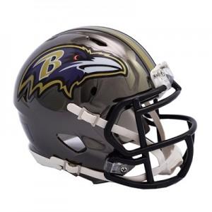 Baltimore Ravens Chrome Alternate Speed Mini Helmet