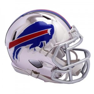 Buffalo Bills Chrome Alternate Speed Mini Helmet