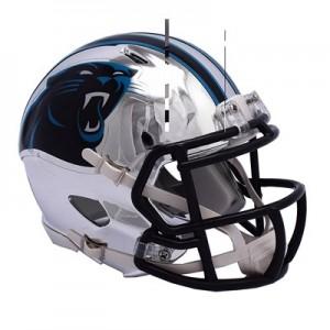 Carolina Panthers Chrome Alternate Speed Mini Helmet