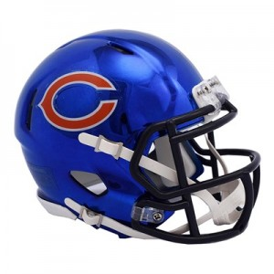 Chicago Bears Chrome Alternate Speed Mini Helmet