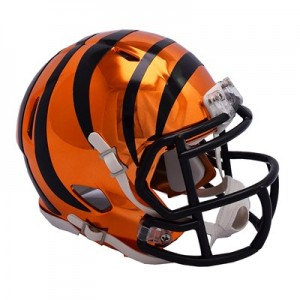 Cincinnati Bengals Chrome Alternate Speed Mini Helmet