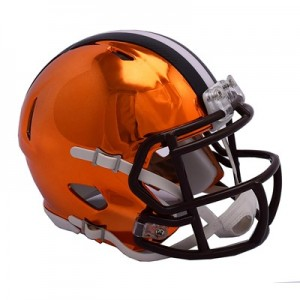 Cleveland Browns Chrome Alternate Speed Mini Helmet