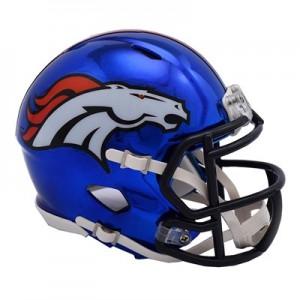 Denver Broncos Chrome Alternate Speed Mini Helmet