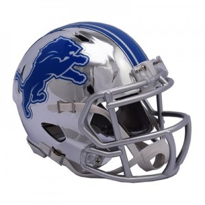 Detroit Lions Chrome Alternate Speed Mini Helmet