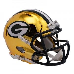Green Bay Packers Chrome Alternate Speed Mini Helmet