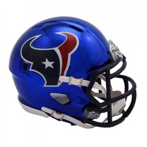 Houston Texans Chrome Alternate Speed Mini Helmet