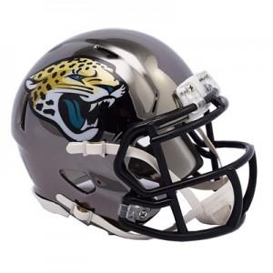Jacksonville Jaguars Chrome Alternate Speed Mini Helmet