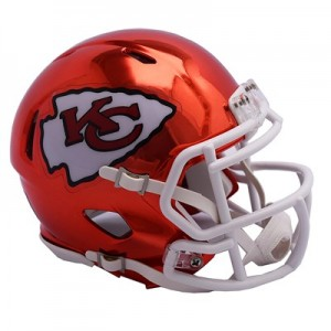 Kansas City Chiefs Chrome Alternate Speed Mini Helmet