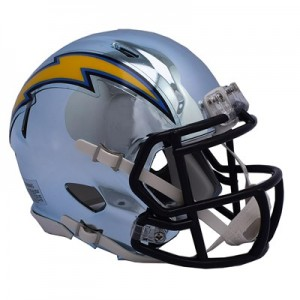 Los Angeles Chargers Chrome Alternate Speed Mini Helmet