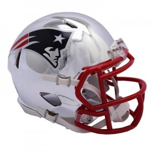 New England Patriots Chrome Alternate Speed Mini Helmet