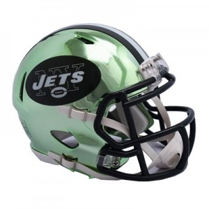 New York Jets Chrome Alternate Speed Mini Helmet
