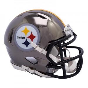 Pittsburgh Steelers Chrome Alternate Speed Mini Helmet
