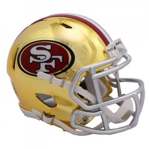 San Francisco 49ers Chrome Alternate Speed Mini Helmet