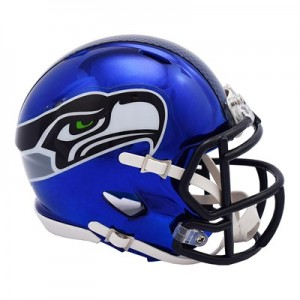 Seattle Seahawks Chrome Alternate Speed Mini Helmet