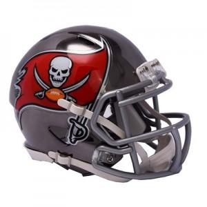 Tampa Bay Buccaneers Chrome Alternate Speed Mini Helmet