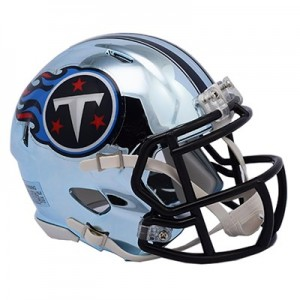 Tennessee Titans Chrome Alternate Speed Mini Helmet