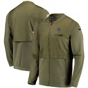 Dallas Cowboys Nike FZ Elite Hybrid Salute to Service Jacket - Mens