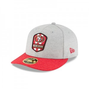 San Francisco 49ers New Era Official Sideline Road Low Profile 59FIFTY Fitted Cap