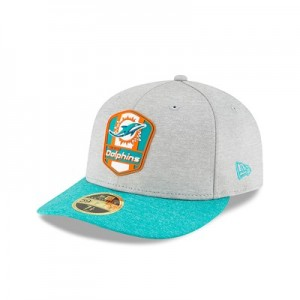 Miami Dolphins New Era Official Sideline Road Low Profile 59FIFTY Fitted Cap