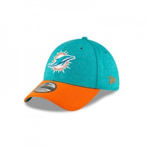 Miami Dolphins New Era Official Sideline Home 39THIRTY Stretch Fit Cap