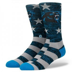 Carolina Panthers Stance Banner Sock - Mens