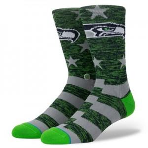 Seattle Seahawks Stance Banner Sock - Mens