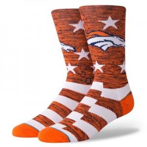 Denver Broncos Stance Banner Sock - Mens