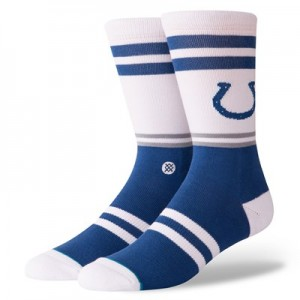 Indianapolis Colts Stance Logo Sock - Mens