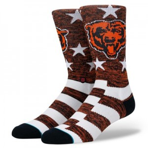 Chicago Bears Stance Banner Sock - Mens