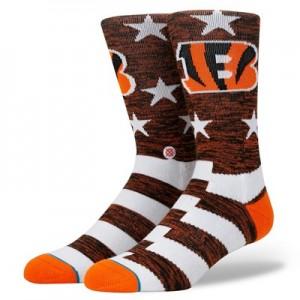 Cincinnati Bengals Stance Banner Sock - Mens
