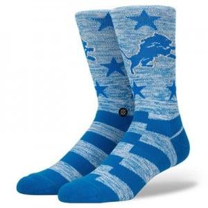 Detroit Lions Stance Banner Sock - Mens