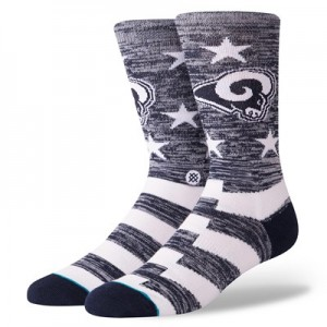 Los Angeles Rams Stance Banner Sock - Mens