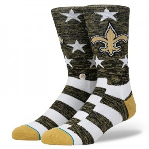 New Orleans Saints Stance Banner Sock - Mens