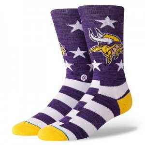 Minnesota Vikings Stance Banner Sock - Mens