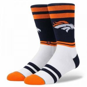 Denver Broncos Stance Logo Sock - Mens