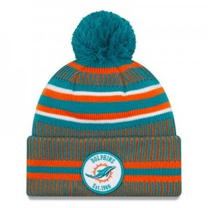 Miami Dolphins New Era 2019 Official Cold Weather Home Knit