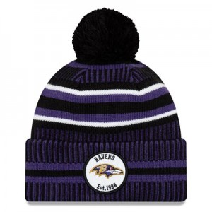 Baltimore Ravens New Era 2019 Official Cold Weather Home Knit