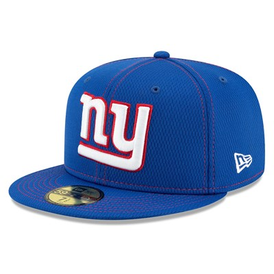 New York Giants New Era 2019 Official Road Sideline 59FIFTY Fitted Cap