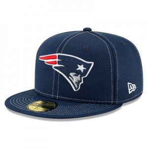 New England Patriots New Era 2019 Official Road Sideline 59FIFTY Fitted Cap