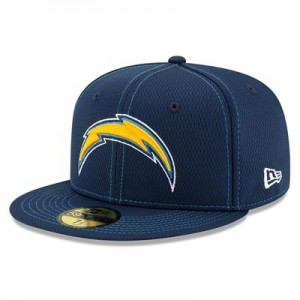Los Angeles Chargers New Era 2019 Official Road Sideline 59FIFTY Fitted Cap