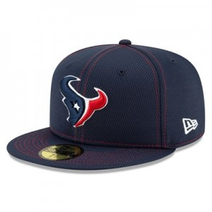 Houston Texans New Era 2019 Official Road Sideline 59FIFTY Fitted Cap