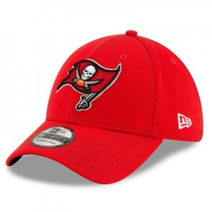 Tampa Bay Buccaneers New Era 2019 Official Road Sideline 39THIRTY Stretch Fit Cap